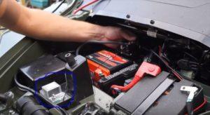 dual battery isolator kit on Kawasaki
