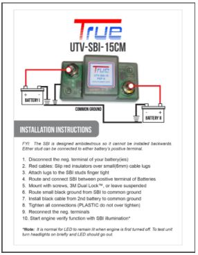 Download instruction for dual battery isolator setup