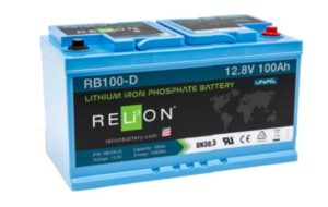 LiFePo4 battery Relion 100Ah 12V - 1,28 kWh